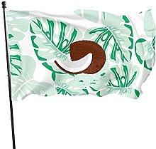Bandiera da giardino con foglie di cocco, bandiere