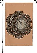 Bandiera da giardino con orologio, 30 x 40 cm,