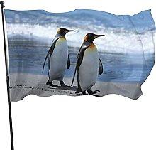 Bandiera da giardino con pinguino ambulante
