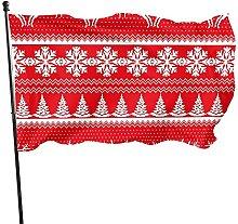Bandiera da giardino con renne, 1,5 m x 0,9 m,