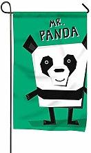 Bandiera da Giardino Decorativa Panda ad Angolo
