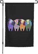 Bandiera da giardino delle mucche, 30 x 40 cm,