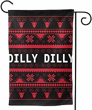 Bandiera da Giardino,Dilly Dilly Brutto Natale