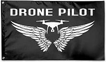 Bandiera da Giardino,Drone Pilot with Wings