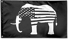 Bandiera da Giardino,Elefanti Bandiera USA