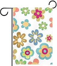 Bandiera da giardino fiore stampa impermeabile e