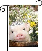 Bandiera da giardino Flower Piggy House Yard