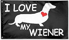 Bandiera da Giardino,I Love My Wiener Bandiere per