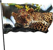 Bandiera da giardino leopardata Bandiera da