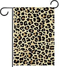 Bandiera da giardino leopardato stampa