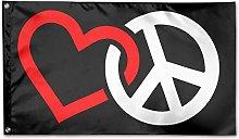 Bandiera da Giardino,Love Peace Sign Bandiere per