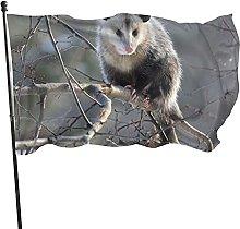 Bandiera da giardino Opossum Bandiera da esterno