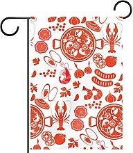 Bandiera da giardino Paella, stampa impermeabile e