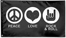 Bandiera da Giardino,Peace Love Rock Roll Bandiere