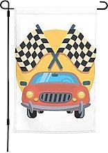 Bandiera da giardino per auto, 30 x 40 cm, doppia