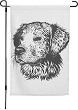 Bandiera da giardino per cani, 30 x 40 cm, doppia