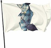 Bandiera da giardino per esterni con occhielli in