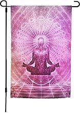 Bandiera da giardino per yoga, 30 x 40 cm, doppia