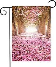Bandiera da giardino Pink Indus Flowers House Yard
