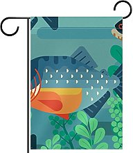 Bandiera da giardino Piranha stampa impermeabile e