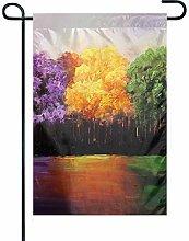 Bandiera da Giardino Rainbow Trees 3 Bandiera