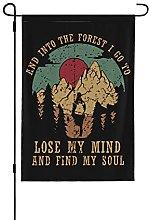 Bandiera da giardino retrò e in the Forest I Go