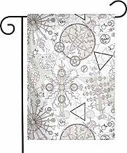 Bandiera da giardino Retro Geometric Constellation
