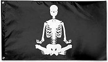 Bandiera da Giardino,Scheletro Umano Yoga Bandiera