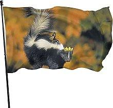 Bandiera da giardino Skunk Bandiera da esterno per