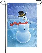 Bandiera da Giardino Snowman 3 Bandiera Decorativa