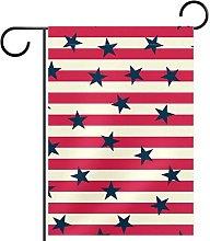 Bandiera da giardino, stampa a righe,