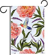 Bandiera da giardino stampa floreale impermeabile