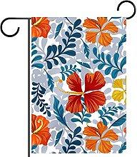 Bandiera da giardino, stampa floreale,