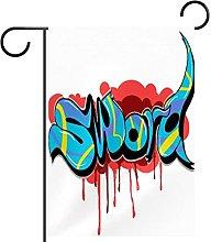 Bandiera da giardino, stampa graffiti,