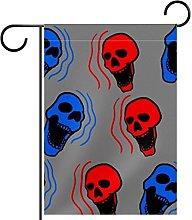 Bandiera da giardino, stampa scheletrata,