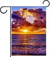 Bandiera da giardino stampa tramonto impermeabile