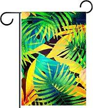 Bandiera da giardino, stampa tropicale,