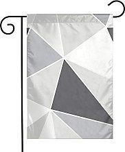 Bandiera da giardino Triangolo grigio e nero