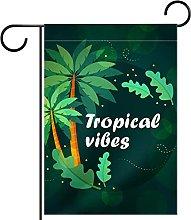 Bandiera da giardino tropicale Vibes con design a