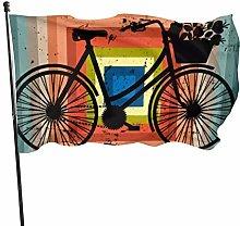 Bandiera da giardino vintage bicicletta in piazza