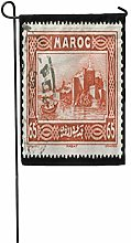 Bandiera da Giardino Vintage Marocco Francobollo