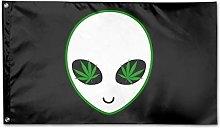 Bandiera da Giardino,Weed Alien Outdoor Flag Home