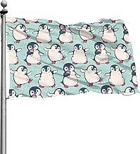 Bandiera dei pinguini 4x6 Ft Banner decorativo per