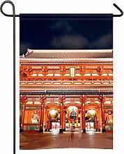 Bandiera del Giappone Tokyo Asakusa Tempio