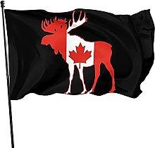 Bandiera del giardino, 1,5 x 0,9 m, Canada cervo