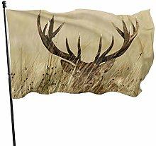 Bandiera del giardino africano cervo in erba