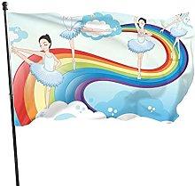 Bandiera del giardino arcobaleno balletto ragazze