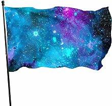 Bandiera del giardino blu viola e rosa galassia