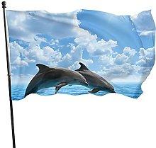 Bandiera del giardino che saltano delfini bandiere