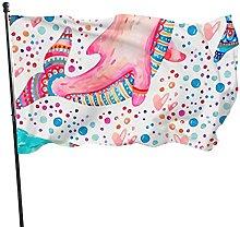 Bandiera del giardino colorato floreale delfino